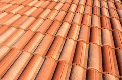 Spanish tile roof Stock Photos
