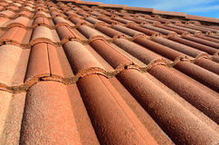 Spanish tile roof Royalty Free Stock Photography
