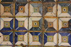 Spanish Tiles. Traditional Spanish Tiles cover the wall at the Convent of Santo Domingo in Lima, Peru Stock Photography