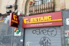 Spanish Tobacco shop estanc. stock photos