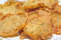 Spanish tortas de camaron, shrimp cakes Stock Image