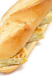 Spanish tortilla de patatas sandwich Royalty Free Stock Images