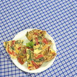 Spanish tortilla on plate Royalty Free Stock Image