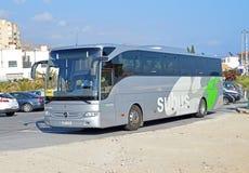 A Spanish Tour Bus Royalty Free Stock Photos