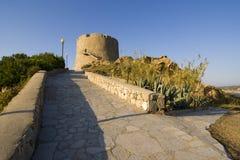 Spanish tower of St. Teresa, Sardinia, Italy royalty free stock photography