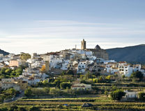 Spanish Town. Typical small town located in the Costa Blanca of Spain Royalty Free Stock Images