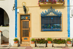 Spanish town house. Front of a Spanish town house in Catalonia Stock Photography