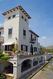 Spanish Town House in Majorca on the river Stock Photo