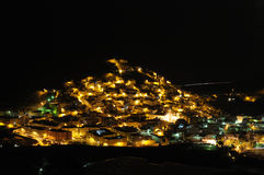 Spanish town at night. Grand Canary Island Stock Images