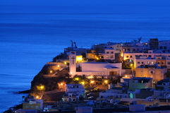 Spanish town at night Stock Image