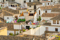 Spanish town roofs Royalty Free Stock Images