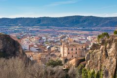 Spanish town in valley Royalty Free Stock Photography
