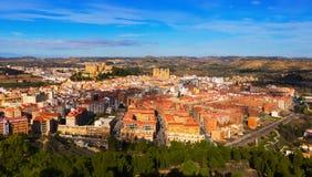 Spanish  town in winter day. Alcaniz. Ordinary spanish  town in winter day. Alcaniz, Aragon Stock Photos