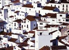 Spanish townhouses, Casares, Spain. Stock Photos