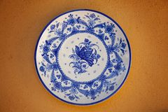 Spanish traditional ceramic plate Royalty Free Stock Photography