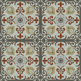 Spanish traditional ornament, Mediterranean seamless pattern, tile design. Spanish traditional ornament tile design royalty free illustration