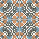 Spanish traditional ornament, Mediterranean seamless pattern, tile design. Stock Image