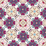 Spanish traditional ornament, Mediterranean seamless pattern, tile design, vector illustration. Stock Photography
