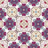 Spanish traditional ornament, Mediterranean seamless pattern, tile design, vector illustration. Stock Photography