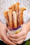 Spanish traditional pastry churros Stock Photography