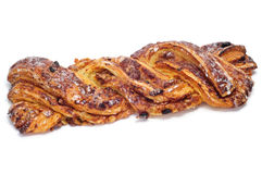 Spanish Trenza de Almudevar, a typical braided pastry Stock Photography