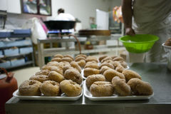 Spanish typical fried donuts Royalty Free Stock Photo