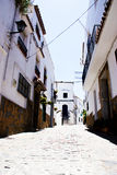 Spanish typical village. View of a spanish andalucian typical village in summer Royalty Free Stock Photography