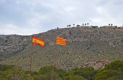 Spanish And Valencian Flags Royalty Free Stock Images