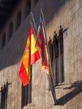 Spanish and Valencian Flags, Valencia Royalty Free Stock Image