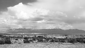 Spanish Valley Waas Mountain Manns Peak Mt Peale Utah Royalty Free Stock Image