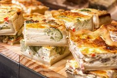 Spanish vegetable quiche Stock Image