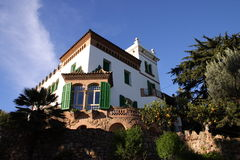 Spanish Villa. In Parc Guell, Barcelona, Spain stock photo