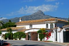 Spanish villa, Marbella. Royalty Free Stock Images