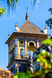 Spanish villa in Seville Royalty Free Stock Photography