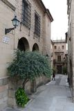 Spanish village - architectural Museum in Barcelona Royalty Free Stock Photo