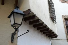 Spanish village - architectural Museum in Barcelona Stock Images