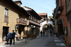 Spanish village - architectural Museum under the open sky, which shows arhitektura crafts Spain. Stock Image