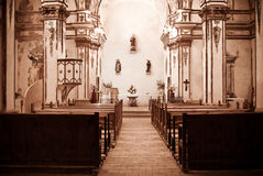 Spanish Village Church Royalty Free Stock Photo