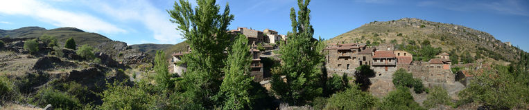 Spanish village. Panoramic view of the spanish village of Patones in the Madrid Sierra Stock Photography