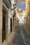 Spanish village street Royalty Free Stock Photos