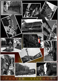 Spanish villages. A composition of several black and white photos of spanish villages Royalty Free Stock Images