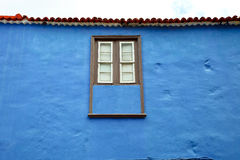 Spanish wall with a window Royalty Free Stock Photos