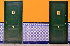 Spanish WC with tile Royalty Free Stock Photography