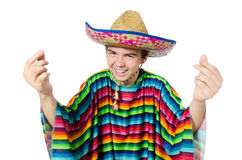 Spanish wearing sombrero in funny concept Royalty Free Stock Image