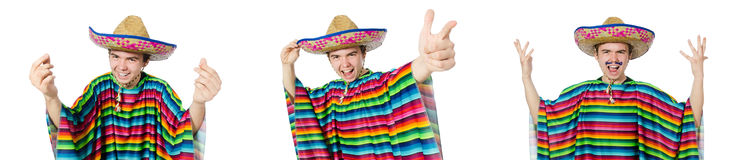 The spanish wearing sombrero in funny concept Royalty Free Stock Photos