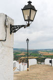 Spanish White Hilltop Town Street of Arcos de la Frontera Stock Photography