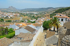 Spanish white town Antequera Stock Photos
