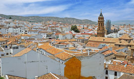 Spanish white town Antequera Royalty Free Stock Photography