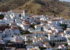 Spanish white village. Cutar. Andalusia Stock Image