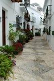 Spanish white village of Frigiliana Stock Photo